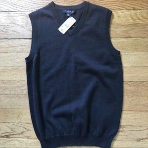 Brooks Brothers Boy Cotton Navy BlueSweater Vest M